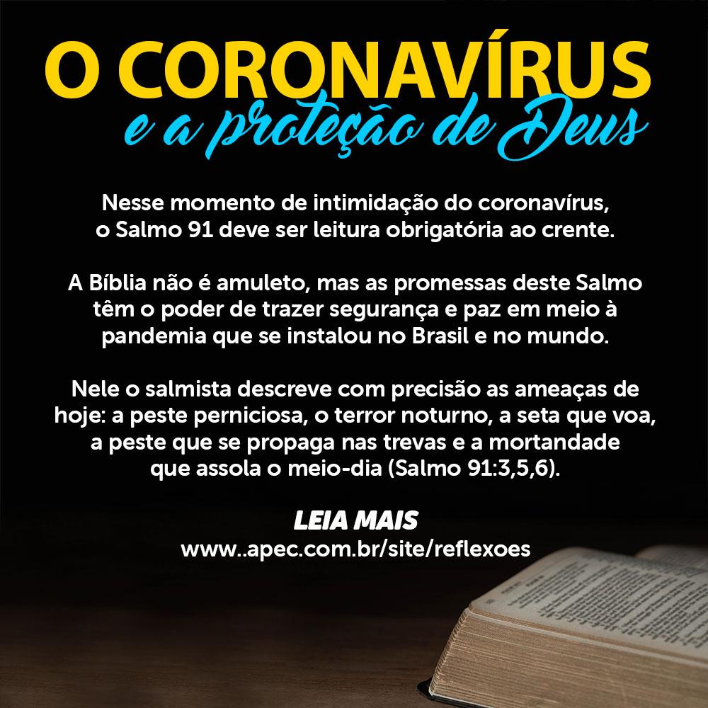 6. coronavírus e a proteção de Deus